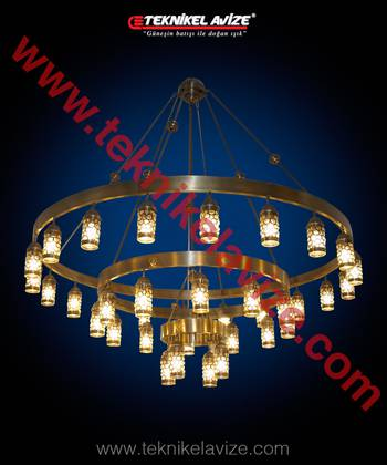 Oak Model Mosque Chandeliers - Teknikel Chandelier