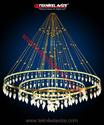 Cypress Model Mosque Chandeliers - Teknikel Chandelier