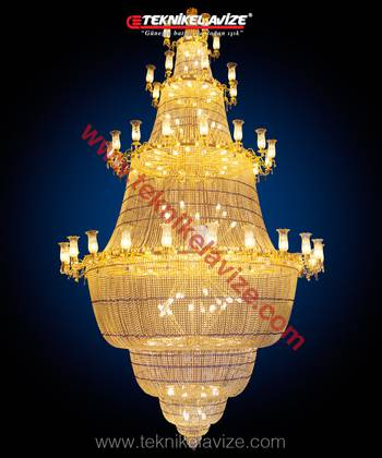 Ruby Model Mosque Chandeliers - Teknikel Chandelier