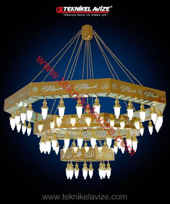 Zultanite Model Mosque Chandeliers - Teknikel Chandelier