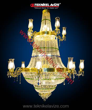 Hyacinth Model Mosque Chandeliers - Teknikel Chandelier
